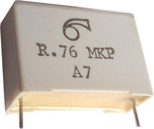1u/250V MKP, svitkový kondenzátor radiální RM=28mm