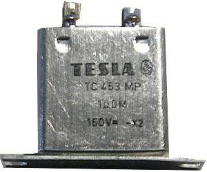 1u/160V TC453, svitkový kondenzátor krabicový