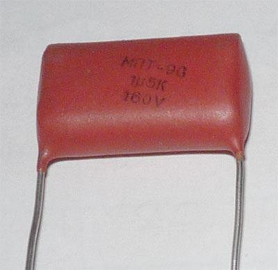 1u5/160V MPT96, RM=22mm, svitkový kondenzátor