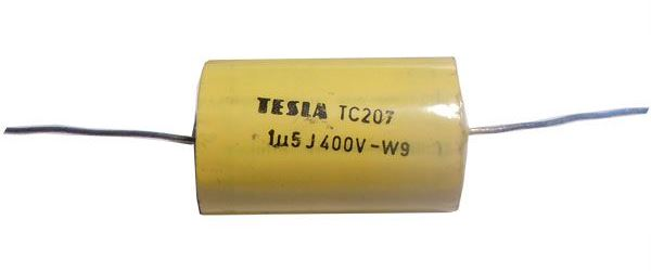 1u5/400V TC207, svitkový kondenzátor