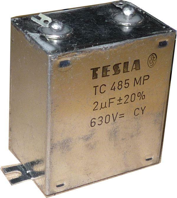 2u/630V TC485, svitkový kondenzátor krabicový