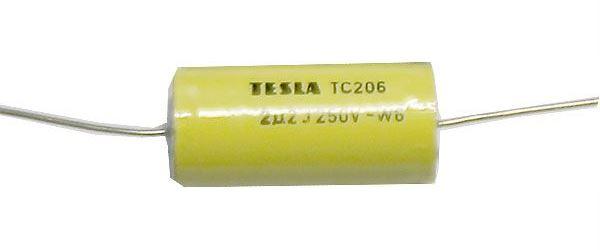 2u2/250V TC206, svitkový kondenzátor