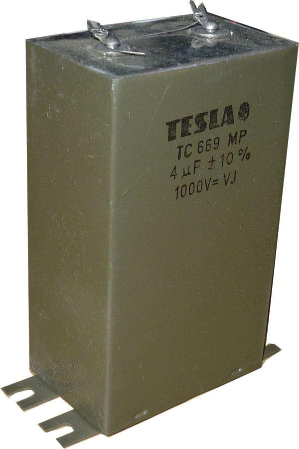 4uF/1000V TC669, svitkový kondenzátor krabicový