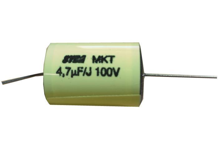 4u7/100V MKT SYBA, svitkový kondenzátor, náhrada za TC205