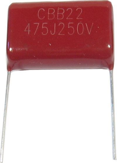 4u7/250V CBB22, svitkový kondenzátor polypropylen