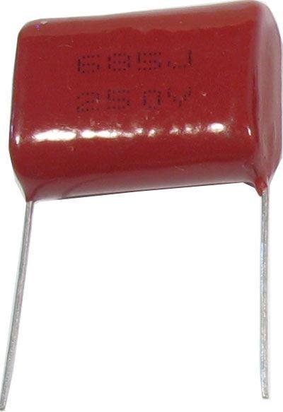 6u8/250V CL21, svitkový kondenzátor polyester