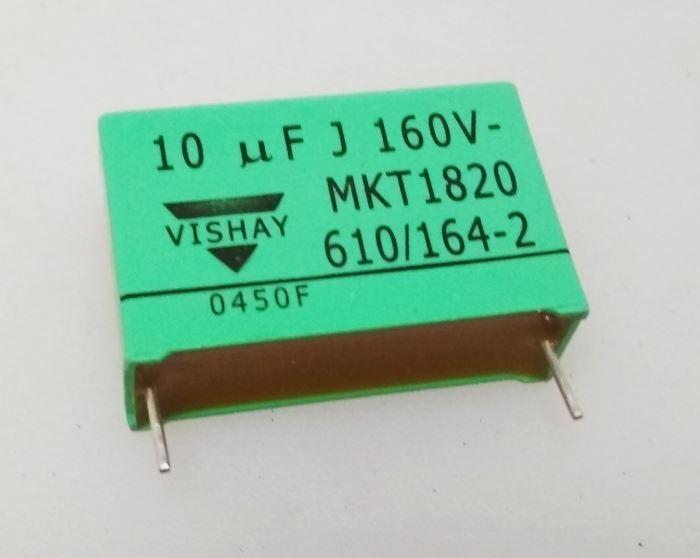 10u/160V svitkový kondenzátor MKT1820 VISHAY