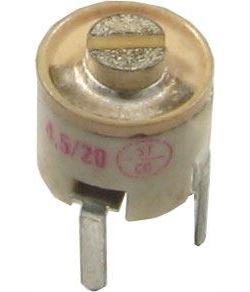 Kapacitní trimr 4,5-20pF keramický, průměr 7mm
