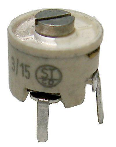 Kapacitní trimr 3-15pF keramický, průměr 10mm