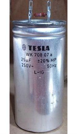 25u/250V~ WK70807a, kondenzátor zářivkový