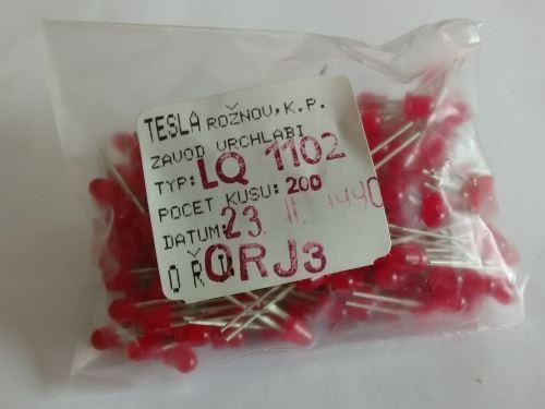 LED 4mm červená difuzní LQ1102, balení 200ks