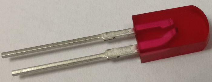 LED 2,5x5mm červená difuzní LQ1212