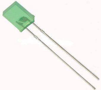 LED 2,5x5mm zelená difuzní VQA24