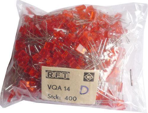 LED 2,5x5mm červená difuzní VQA14, balení 400ks