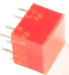 LED 5x5mm zelená difuzní 5mcd/25mA
