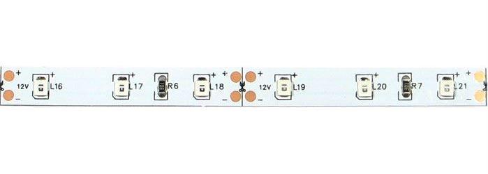 LED pásek 8mm, červený, 60xLED2835/m, IP20, modul 5cm