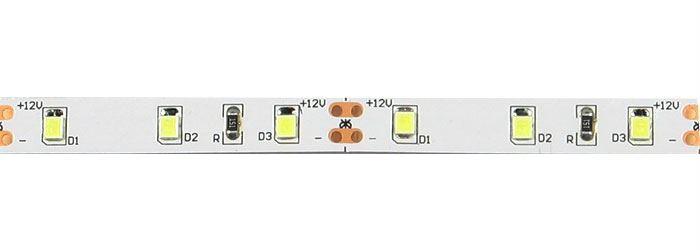 LED pásek 8mm, bílý teplý, 60xLED2835/m, IP20, modul 5cm