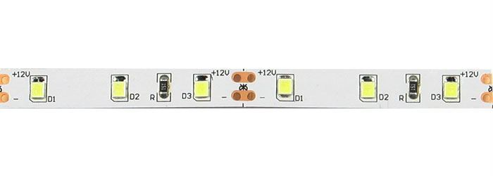 LED pásek 8mm, denní bílá, 60xLED2835/m, IP20, modul 5cm