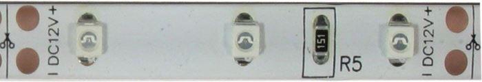 LED pásek 8mm,červený,60xLED3528/m,IP65, modul 5cm