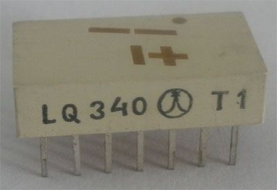 LQ340 zobrazovač +-1., žlutý TESLA