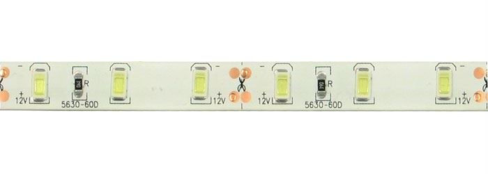 LED pásek 10mm bílý teplý, 60x LED5730/m, IP65, modul 5cm