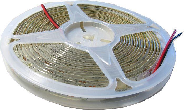 LED pásek 10mm zelený, 60x LED5730/m, IP65, cívka 5m