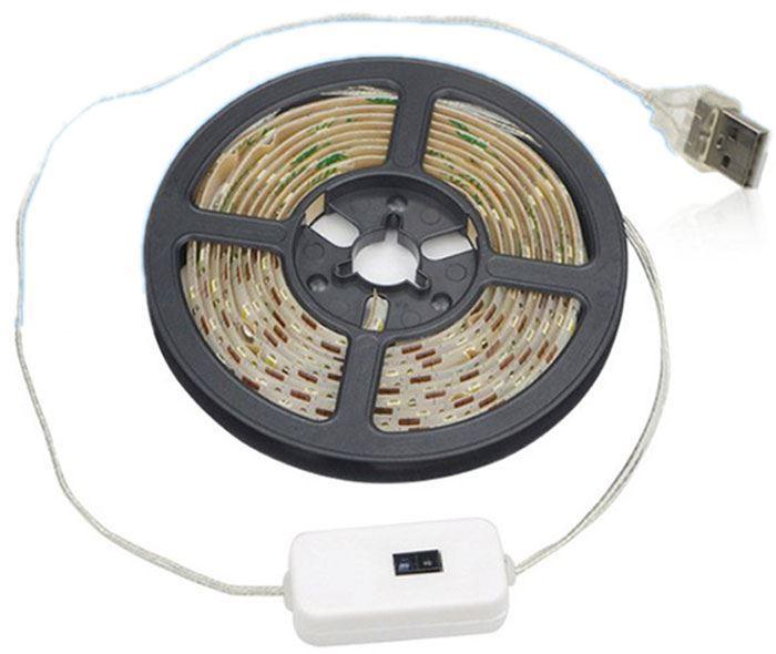 LED pásek 2m teplý bílý, pohybové čidlo, napájení USB