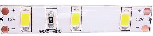LED pásek 10mm,bílý,60xLED5630/m,IP65, 6000K, modul 5cm