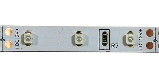 LED pásek 8mm červený,60xLED3528/m,IP20, 10x zbytek, celkem 5,3m