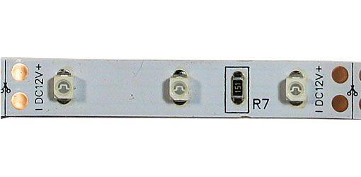 LED pásek 8mm modrý,60xLED3528/m,IP20, modul 5cm