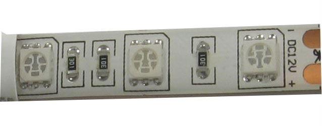 LED pásek GROW 12V 10mm RGB,60x LED5050/m,IP65, modul 5cm