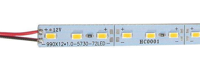 LED pásek 12mm hliníkový, bílý teplý, 72x LED5730/m, IP20, délka 1m