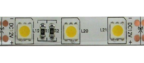 LED pásek 10mm,bílý teplý,60xLED5050/m, IP65, modul 5cm