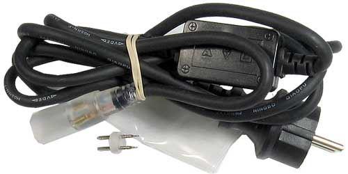Napájecí koncovka s vidlicí 230VAC/DC pro LED kabel