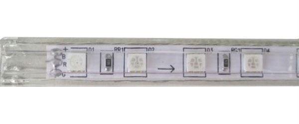 LED pásek 230V RGB, 60xLED5050/m, IP65, modul 1m