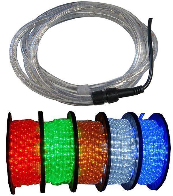 Světelný kabel LED zelený,průměr 13mm