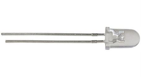 LED 5mm bílá čirá 15Cd/20mA 15°
