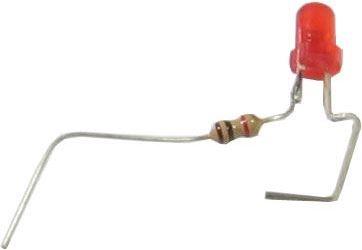 LED 3mm 12V, červená rozptylka 100mCd/20mA 640nm 35°