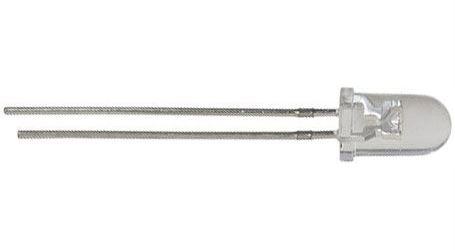 LED 5mm bílá teplá čirá 12Cd/18st.25mA
