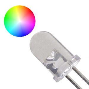 LED 5mm RGB FAST multicolour 15° 3,5V 2 vývody