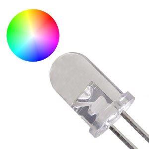 LED 5mm RGB SLOW multicolour 15° 3,5V 2 vývody