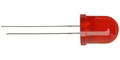 LED 10mm červená rozptylka 120mCd/ 20mA 55°