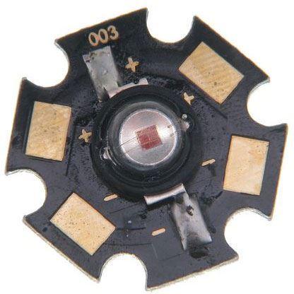 LED 1W červená 625nm,40lm/350mA,120°
