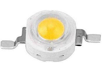 LED 1W teplá bílá 3000K, 80lm/350mA, 120°