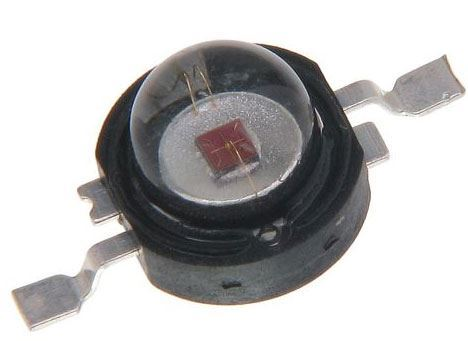 LED 3W zelená, 100lm/800mA, 120°
