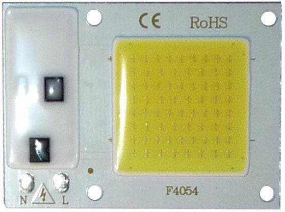 LED 10W, bílá 6000K, 1000lm, 120°, napájení 230VAC