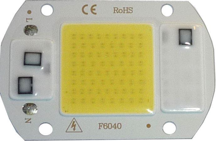 LED 20W, bílá 6000K, 2000lm, 120°, napájení 230VAC