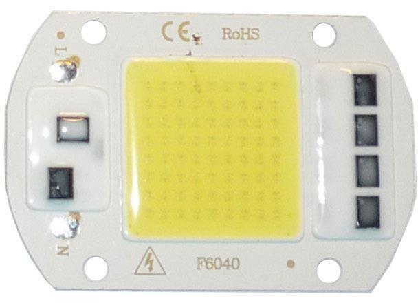 LED 50W, bílá 6000K, 5000lm, 120°, napájení 230VAC
