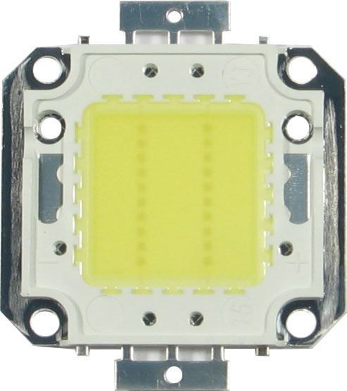 LED 20W Epistar, denní bílá 4000K, 2200lm/600mA,120°, 30-32V