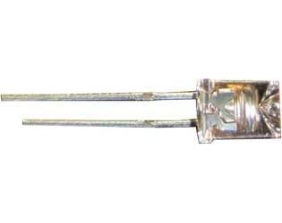 LED 5mm bílá teplá čirá 1,1Cd/25mA 110° 3,5V